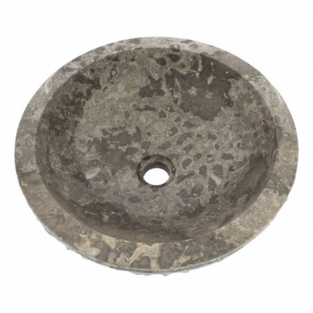 Gray Marble Wash bowl Marmo Ø 40 x H 15 cm
