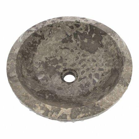 Indomarmer Grauem Marmor Waschbecken Marmo Ø 40 x H 15 cm