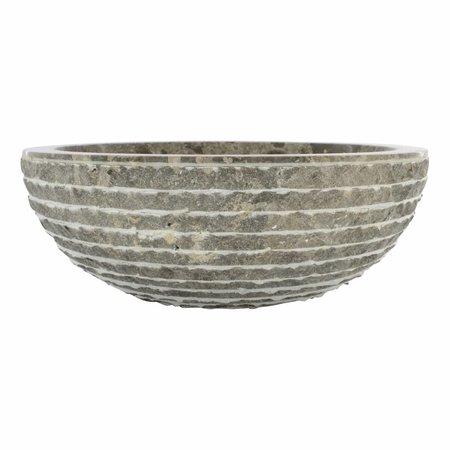 Grauem Marmor Waschbecken Marmo Ø 40 x H 15 cm