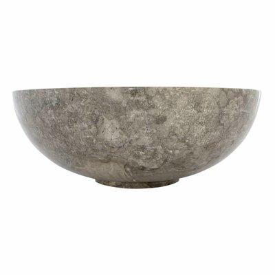 Waskom Mangkok Grijs Marmer Ø 40 x H 15 cm