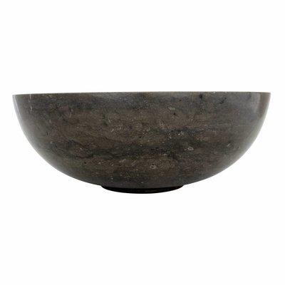 Waskom Mangkok Zwart Marmer Ø 40 x H 15 cm