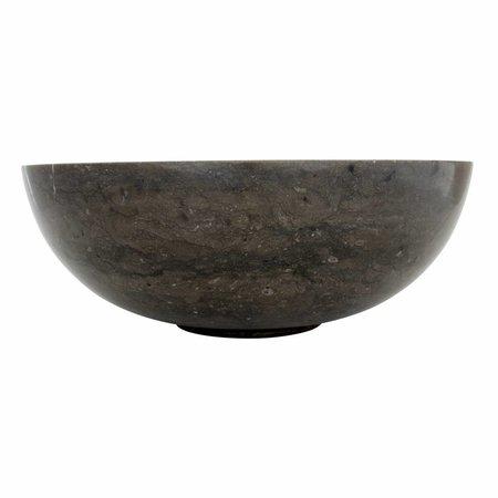 Indomarmer Waskom Mangkok Zwart Marmer Ø 40 x H 15 cm