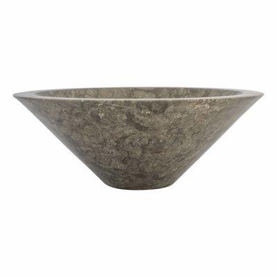 Indomarmer Waskom Membrane Grijs Marmer Ø 40 x H 15 cm