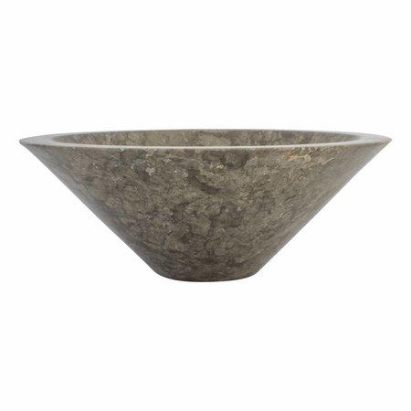 Gray Marble Wash bowl MembraneØ 40 x H 15 cm