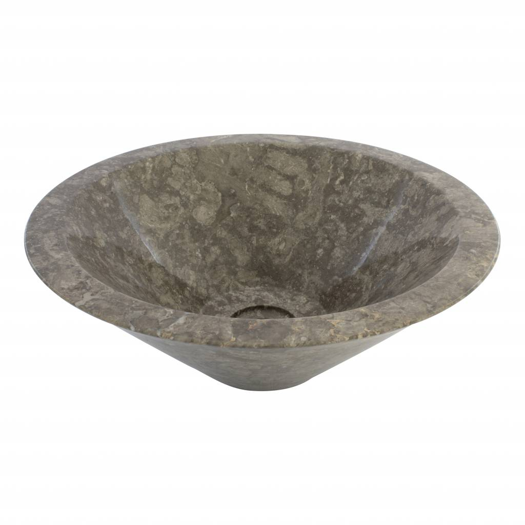Indomarmer Grauem Marmor Waschbecken Membrane Ø 40 x H 15 cm