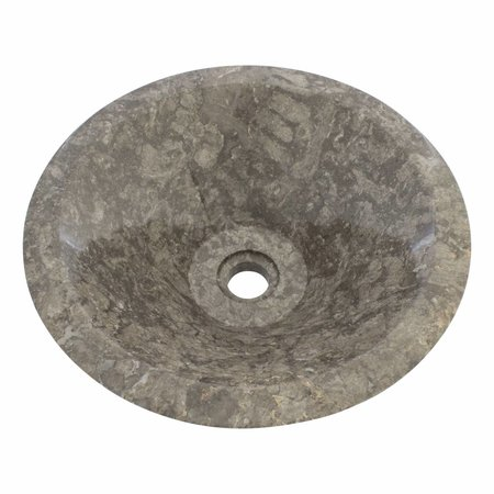 Waskom Membrane Grijs Marmer Ø 40 x H 15 cm