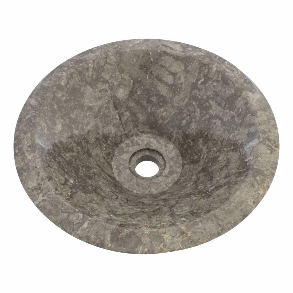 Indomarmer Gray Marble Wash bowl MembraneØ 40 x H 15 cm