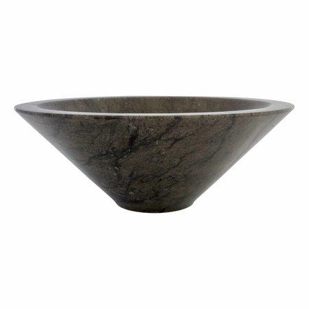 Indomarmer Waskom Membrane Zwart Marmer Ø 40 x H 15 cm