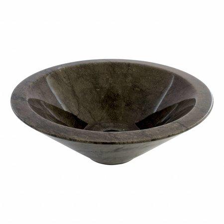 Indomarmer Schwarzer Marmor Waschbecken Membrane Ø 40 x H 15 cm