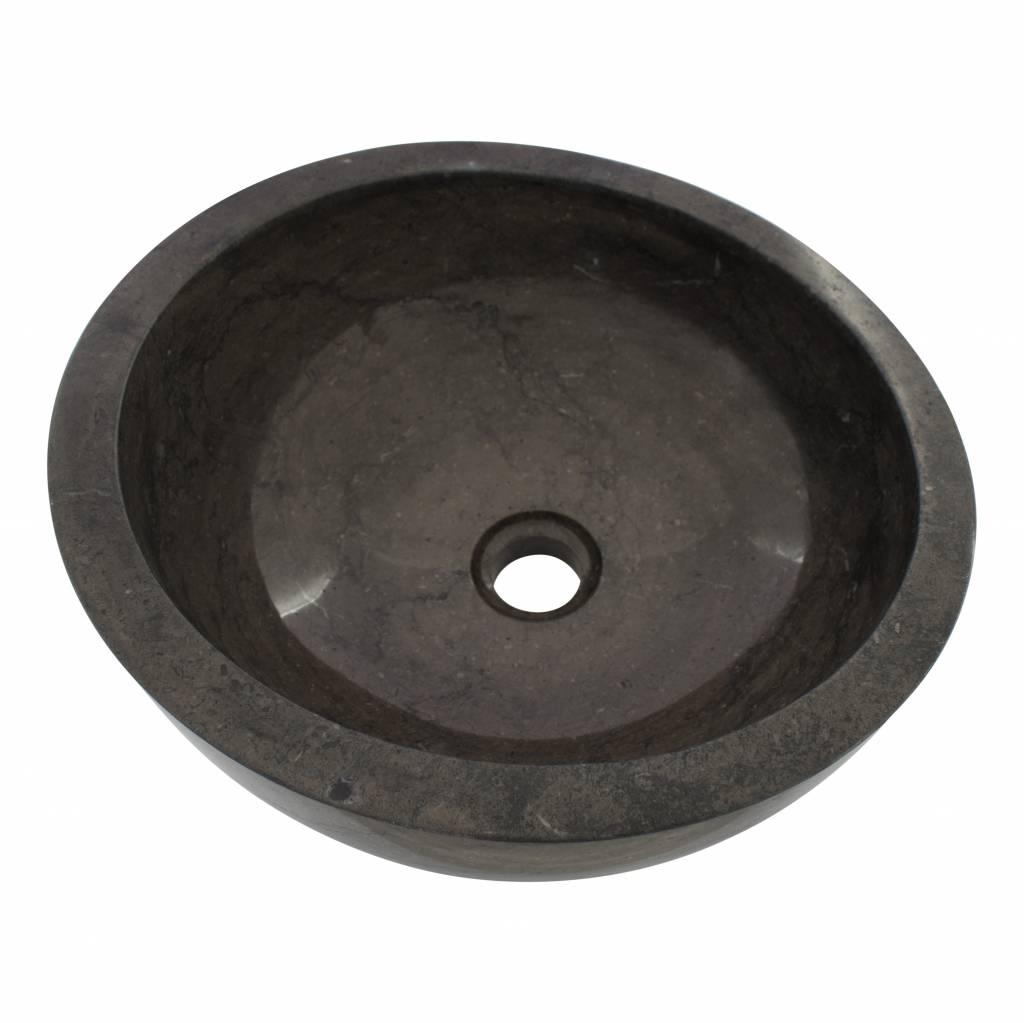 Indomarmer Black Marble Wash bowl Miring Ø 40 x H 19 cm