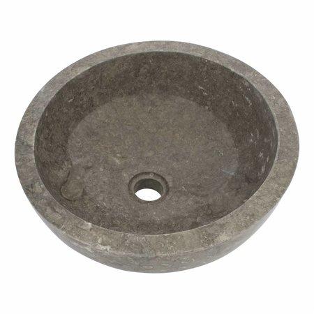 Grauem Marmor Waschbecken Miring Ø 40 x H 19 cm