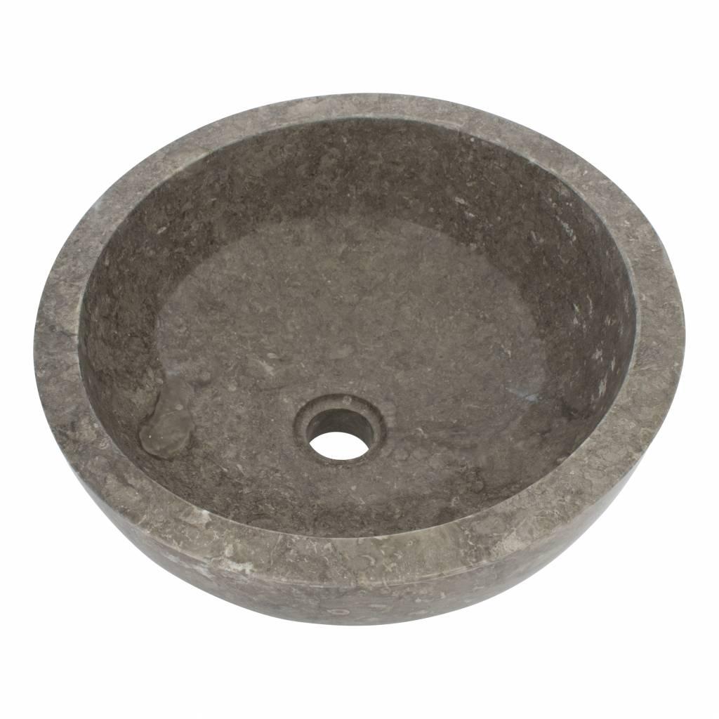Indomarmer Grauem Marmor Waschbecken Miring Ø 40 x H 19 cm
