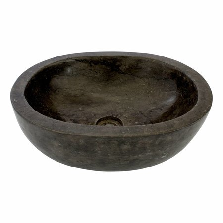 Black Marble Wash bowl Oval 43 x 35 x 15 cm