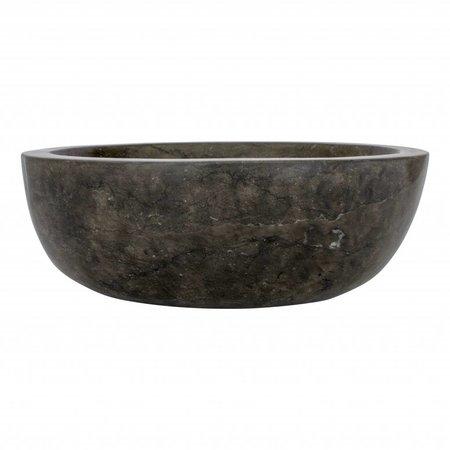 Indomarmer Waskom Oval Zwart Marmer 43 x 35 x 15 cm