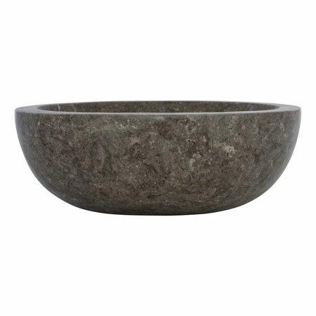 Grauem Marmor Waschbecken Oval 43 x 35 x 15 cm
