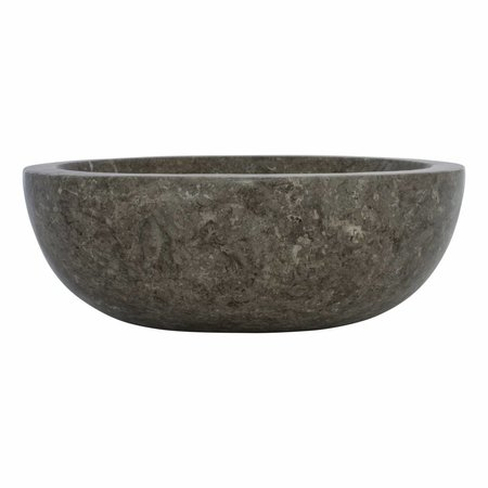 Indomarmer Gray Marble Wash bowl Oval 43 x 35 x 15 cm