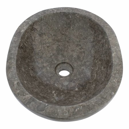 Waskom Oval Grijs Marmer 43 x 35 x 15 cm