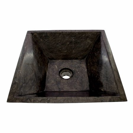 Black Marble Wash bowl Kotak Piramide 40 x 40 x 15 cm