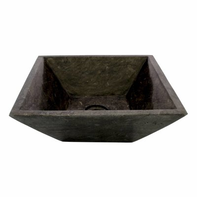 Indomarmer Black Marble Wash bowl Kotak Piramide 40 x 40 x 15 cm