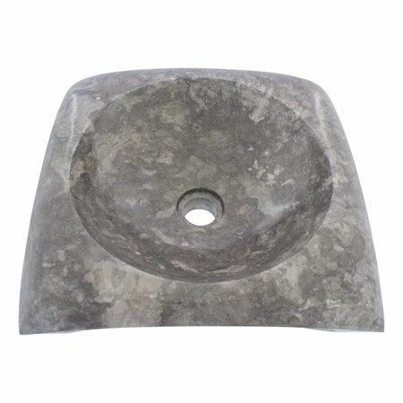 Gray Marble Wash bowl Rectangle Cantik 40 x 40 x 12 cm