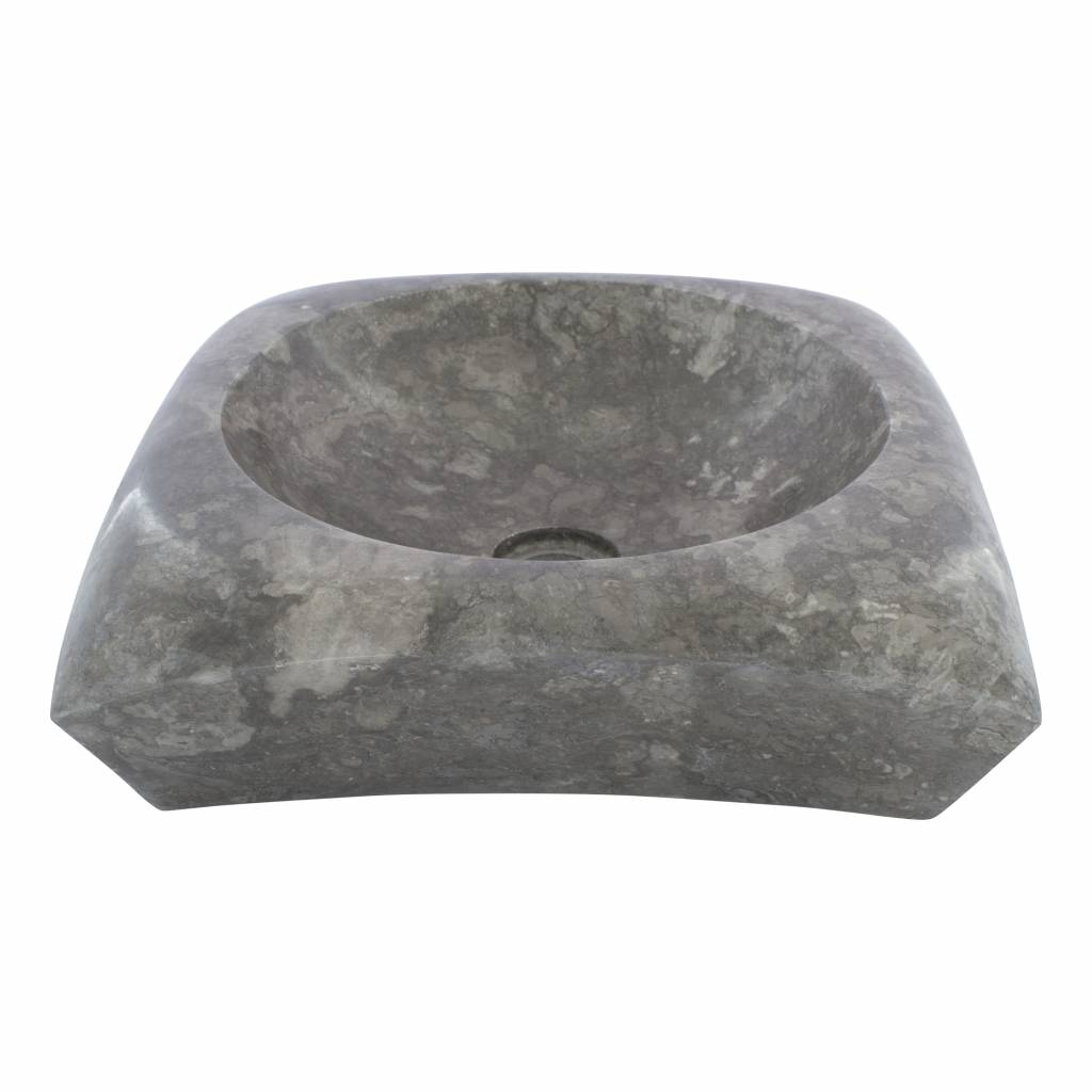 Indomarmer Grauem Marmor Waschbecken Rectangle Cantik 40 x 40 x 12 cm