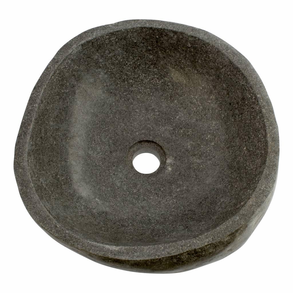 Indomarmer Polierte Waschbecken aus Flussstein 40x40x15cm