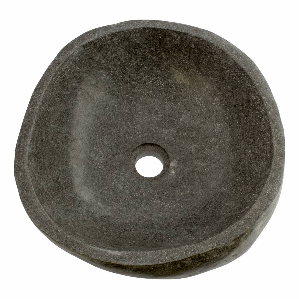 Indomarmer Polished River Stone Wash Bowl 40x40x15cm
