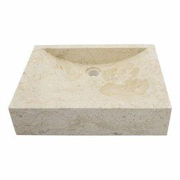 Indomarmer Creme Marmor Waschbecken Rechteckig 50x40x12cm