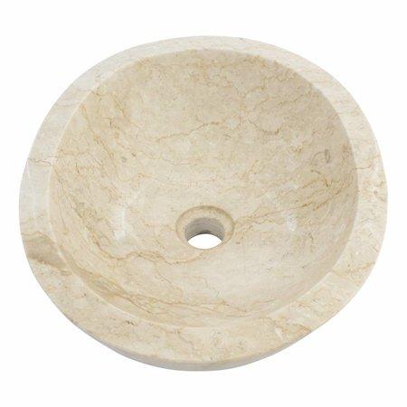 Creme Marmor Waschbecken Oval 43 x 35 x 15 cm