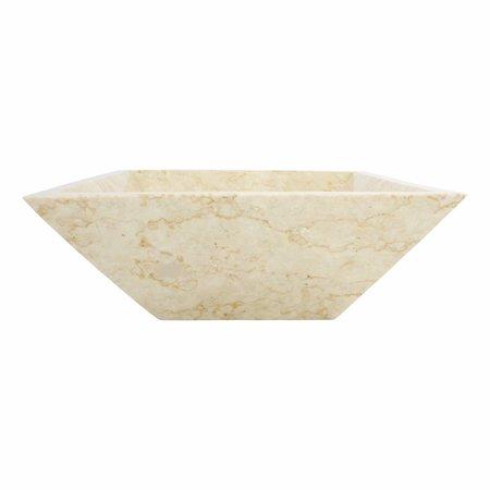 Indomarmer Cream Marble Wash bowl Kotak Piramide 40 x 40 x 15 cm