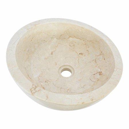 Indomarmer Creme Marmor Waschbecken Miring Ø 40 x H 19 cm