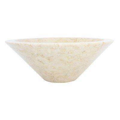 Indomarmer Creme Marmor Waschbecken Membrane Ø 40 x H 15 cm