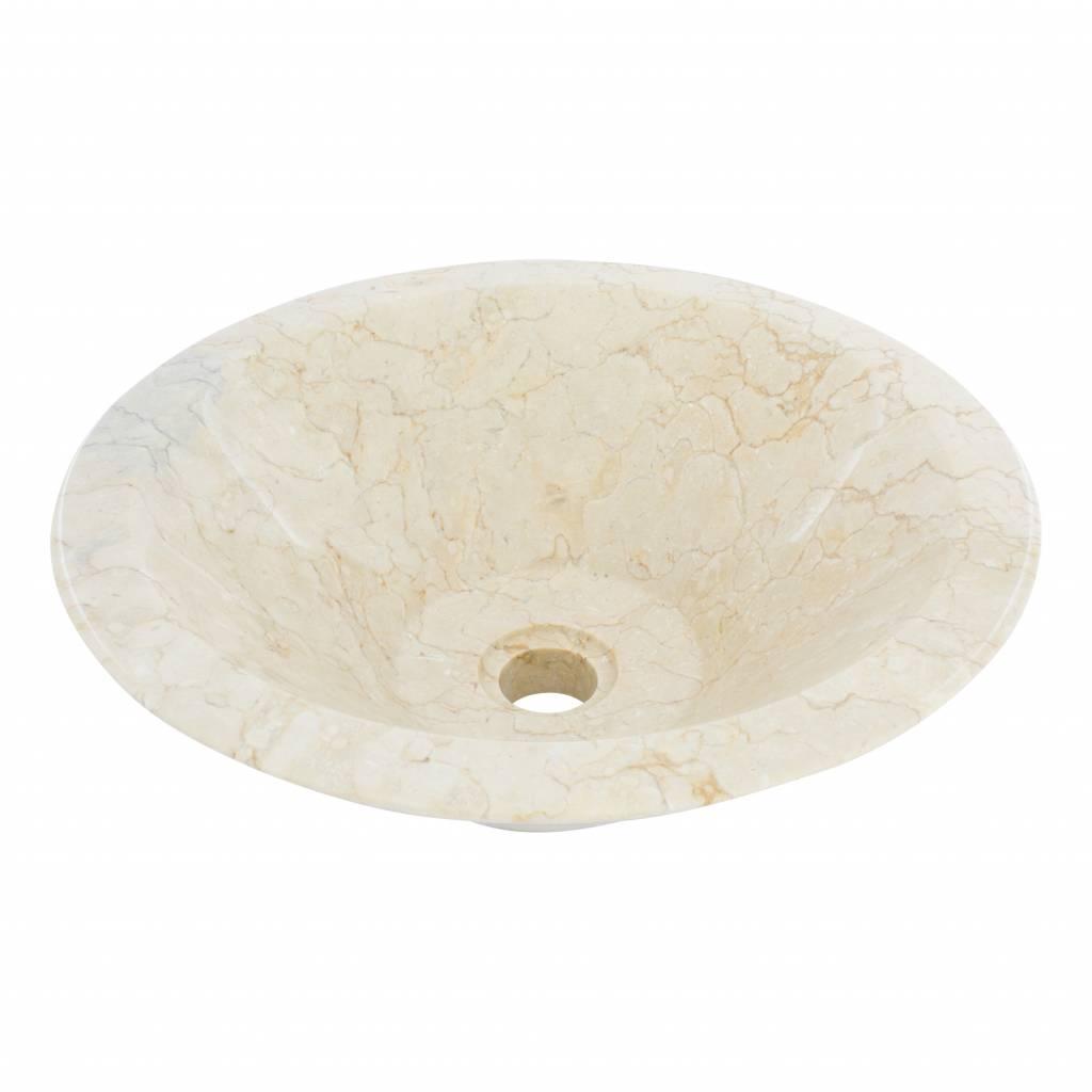 Indomarmer Cream Marble Wash bowl Membrane Ø 40 x H 15 cm