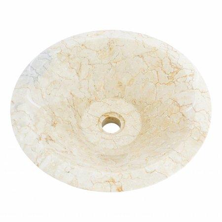 Creme Marmor Waschbecken Membrane Ø 40 x H 15 cm