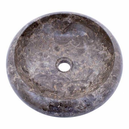 Indomarmer Grauem Marmor Waschbecken Donat Ø 40 x H 12 cm