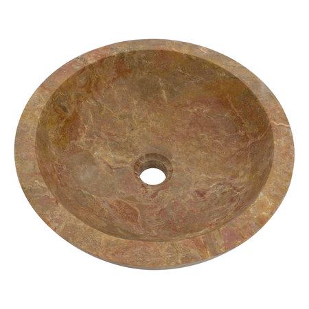 Indomarmer Waskom Rood Marmer Ø 40 x H 15 cm