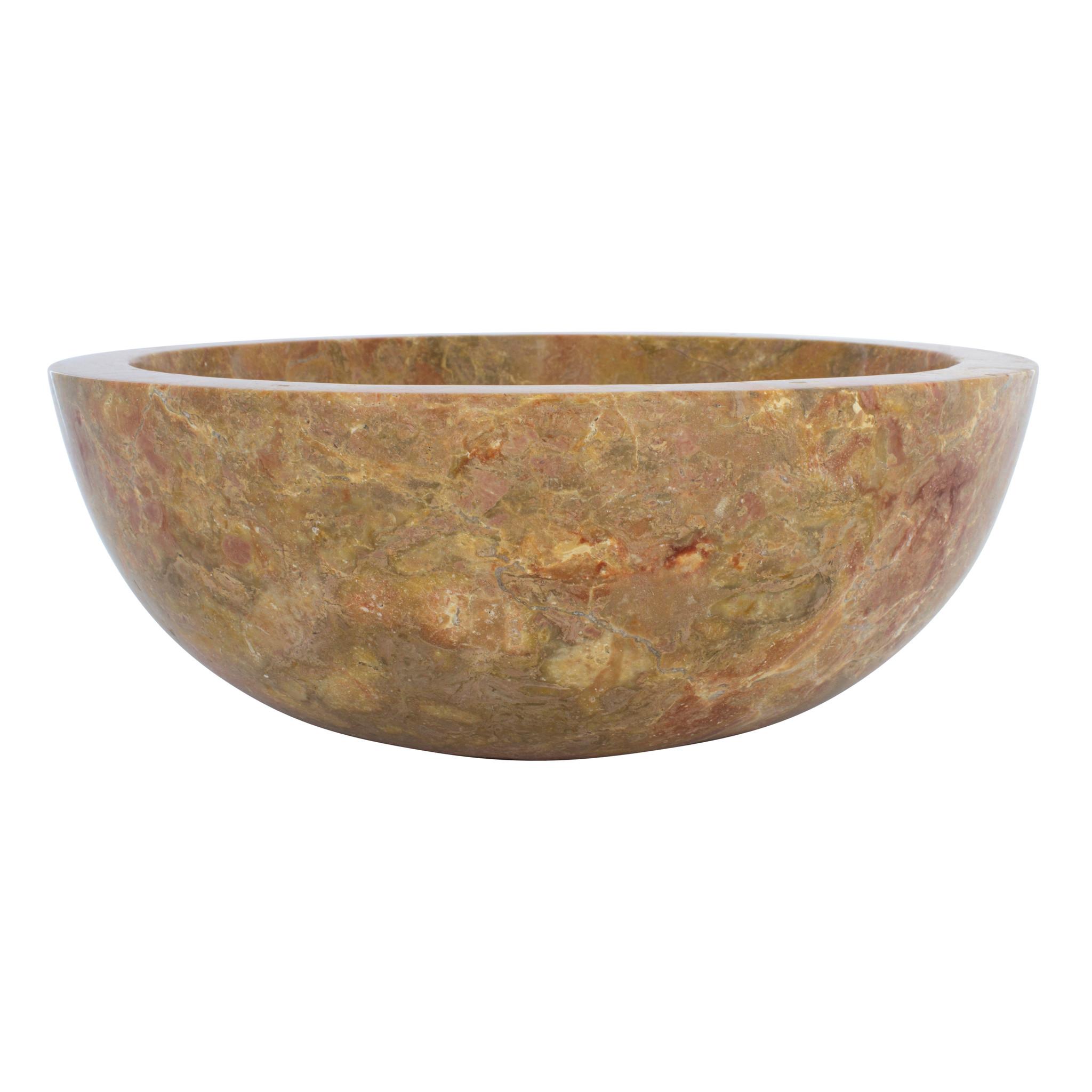 Indomarmer Red Marble Wash bowl Ø 40 x H 15 cm