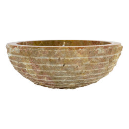 Red Marble Wash bowl Marmo Ø 40 x H 15 cm