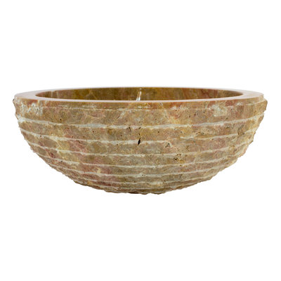 Indomarmer Red Marble Wash bowl Marmo Ø 40 x H 15 cm