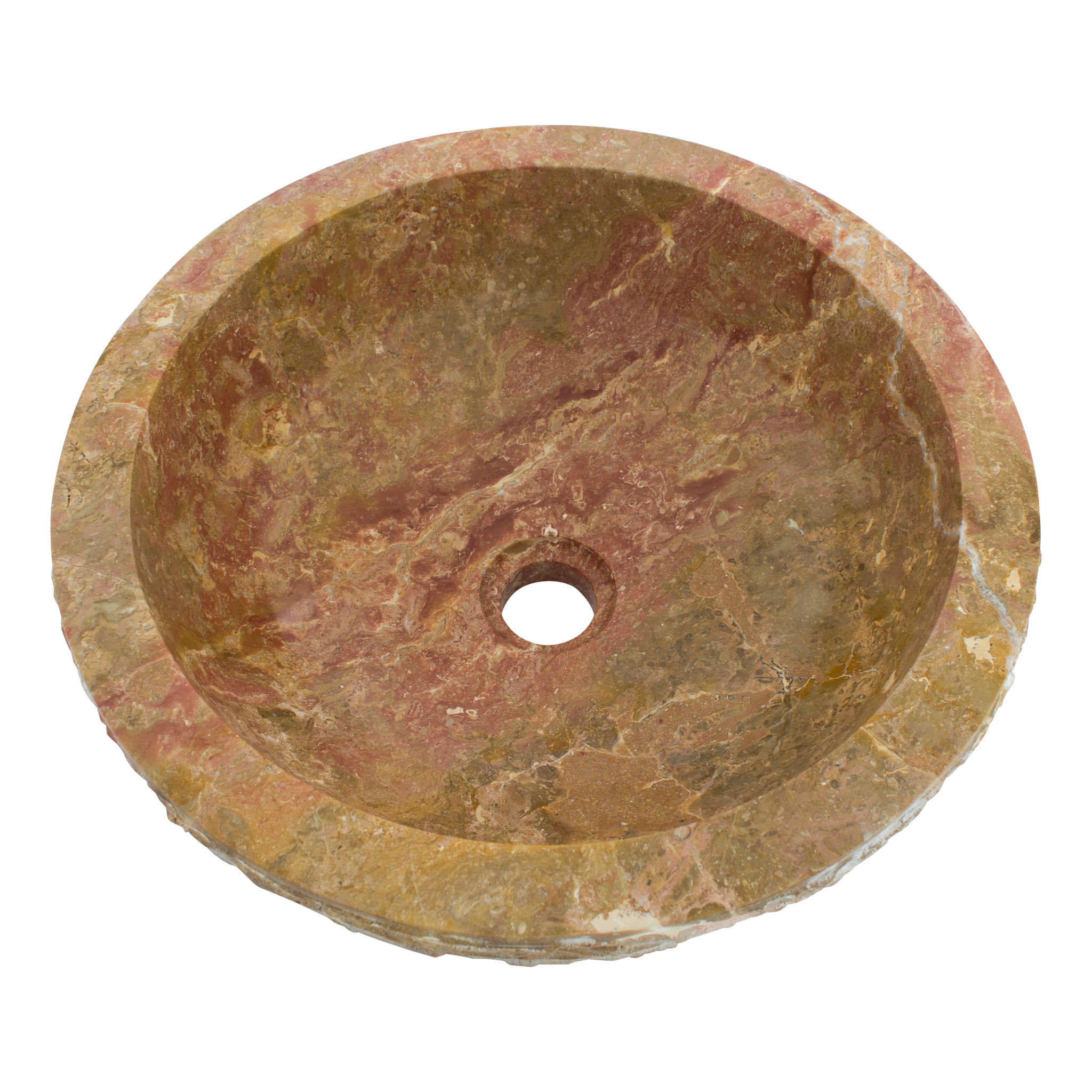 Indomarmer Rotem Marmor Waschbecken Marmo Ø 40 x H 15 cm