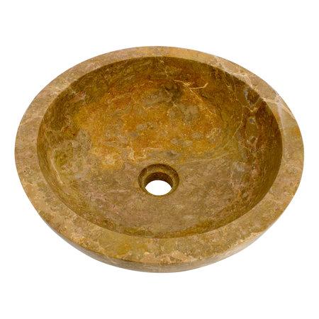 Rotem Marmor Waschbecken Mangkok Ø 40 x H 15 cm