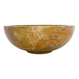 Indomarmer Rotem Marmor Waschbecken Mangkok Ø 40 x H 15 cm