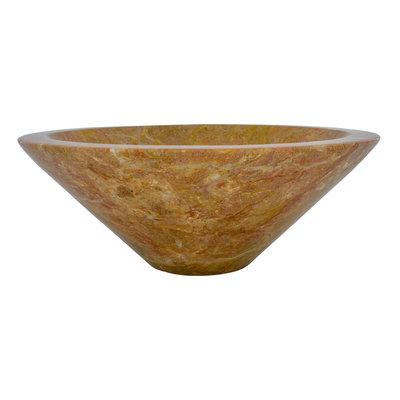 Indomarmer Waskom Membrane Rood Marmer Ø 40 x H 15 cm