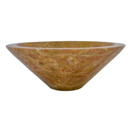 Rotem Marmor Waschbecken Membrane Ø 40 x H 15 cm