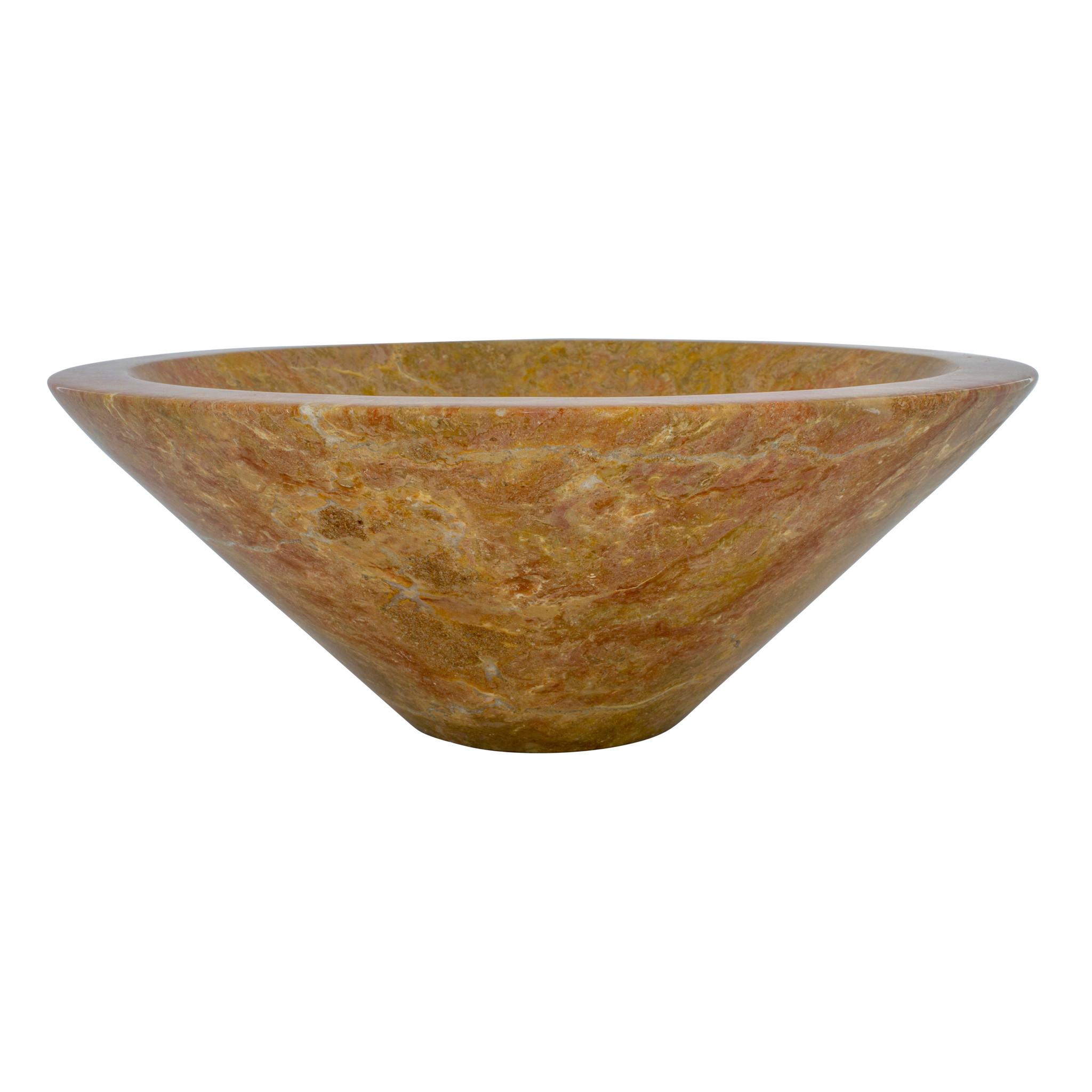 Indomarmer Rotem Marmor Waschbecken Membrane Ø 40 x H 15 cm