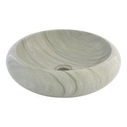 Green Sandstone Wash bowl Donut Ø 40 x H 12 cm