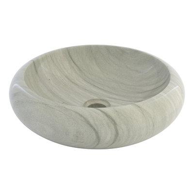 Groene Zandsteen Waskom Donut Ø 40 x H 12 cm
