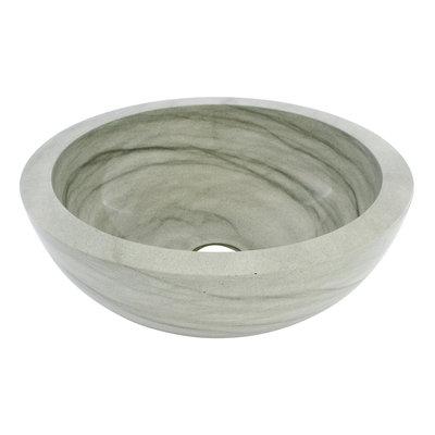 Indomarmer Green Sandstone Wash bowl Ø 40 x H 15 cm