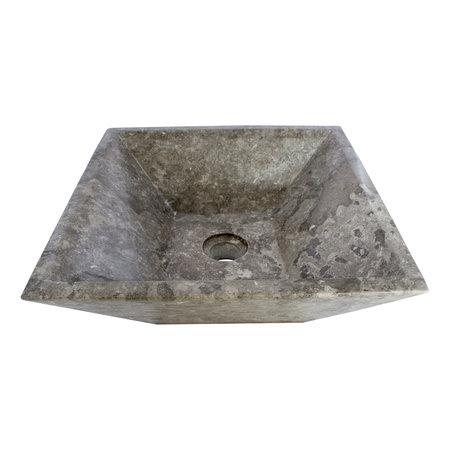 Gray Marble Wash bowl Kotak Piramide 40 x 40 x 15 cm