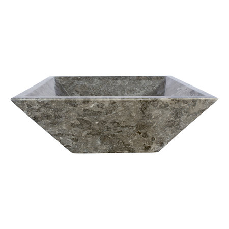 Grauem Marmor Waschbecken Kotak Piramide 40 x 40 x 15 cm